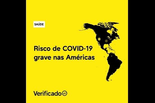 Mais de 300 milhões de pessoas correm risco de serem pacientes graves de COVID-19 nas Américas