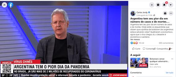 Deputado e jornalista atacam eficácia do lockdown contra a pandemia