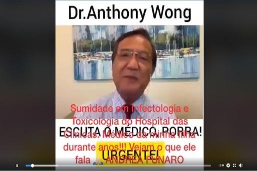 Médico pediatra defende automedicação com hidroxicloroquina, ivermectina e azitromocina