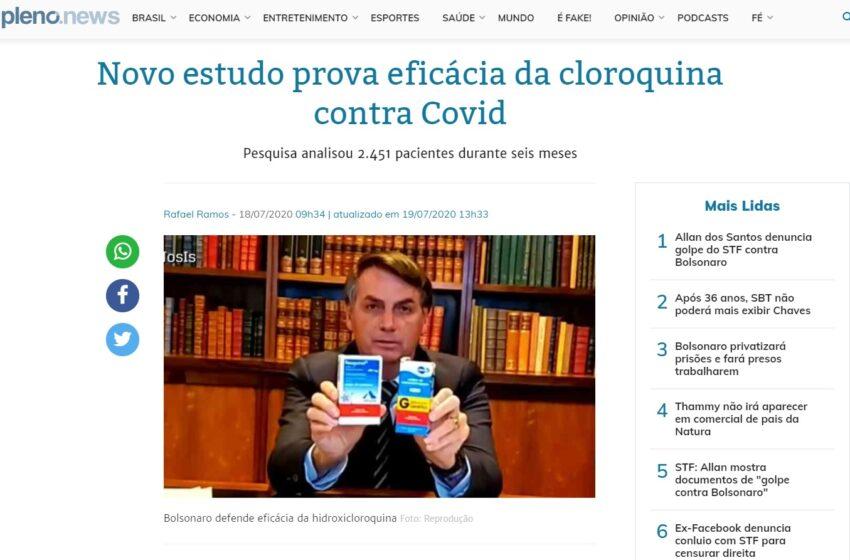 Estudo desenvolvido pelo Henry Ford Health System é insuficiente para comprovar o êxito da hidroxicloroquina no tratamento contra a COVID 19