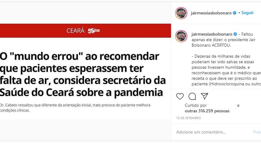 """Secretário de Saúde do Ceará de fato afirmou que """"o mundo errou"""" ao recomendar que pacientes esperassem ter falta de ar para ir ao hospital"""
