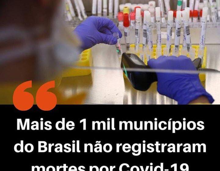 Mais de 1.000 municípios brasileiros não registraram mortes por covid-19