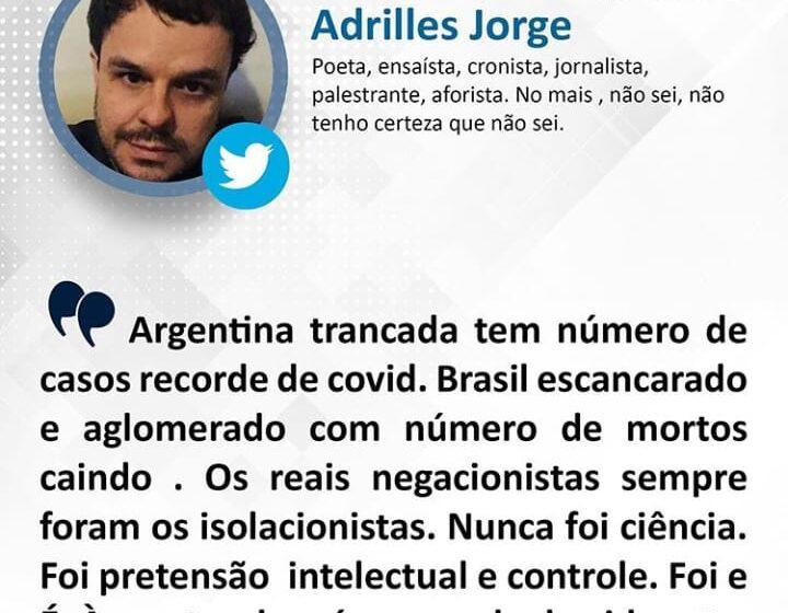 Argentina trancada tem número de casos recordes de COVID-19 e o Brasil com aglomerações segue em queda?