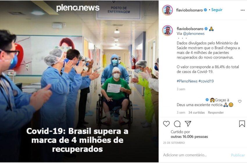 Brasil passa dos 4 milhões e 600 mil recuperados por COVID-19, mas o número não deve ser motivo de comemoração