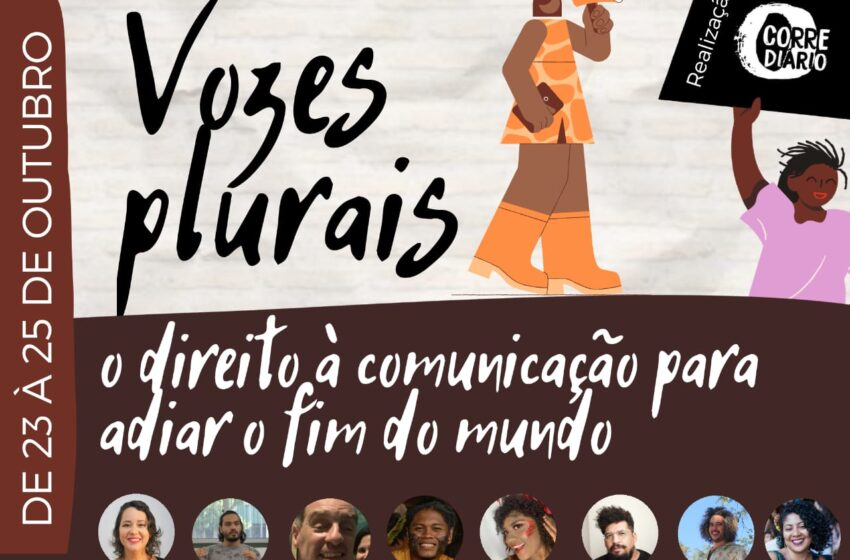"""""""Vozes Plurais: Direito à comunicação para adiar o fim do mundo"""", evento marca o dia pela Democratização da Comunicação"""