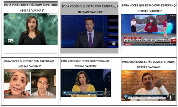 Vídeo usa trechos de matérias jornalísticas para montar narrativa antivacina