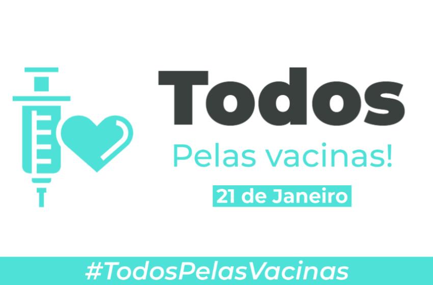 """Conheça a campanha """"Todos pelas Vacinas"""" que reúne organizações e entidades científicas em defesa da vacina contra a COVID-19"""
