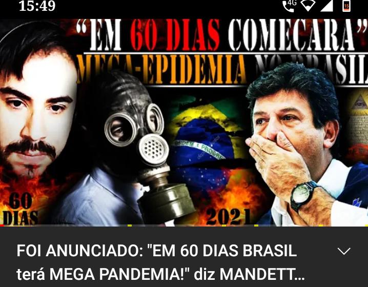 Vídeo sobre nova pandemia no Brasil traz informações falsas e manipuladas