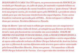 Operação secreta do governo garante a produção de 6 milhões de doses de vacina brasileira contra a Covid-19?