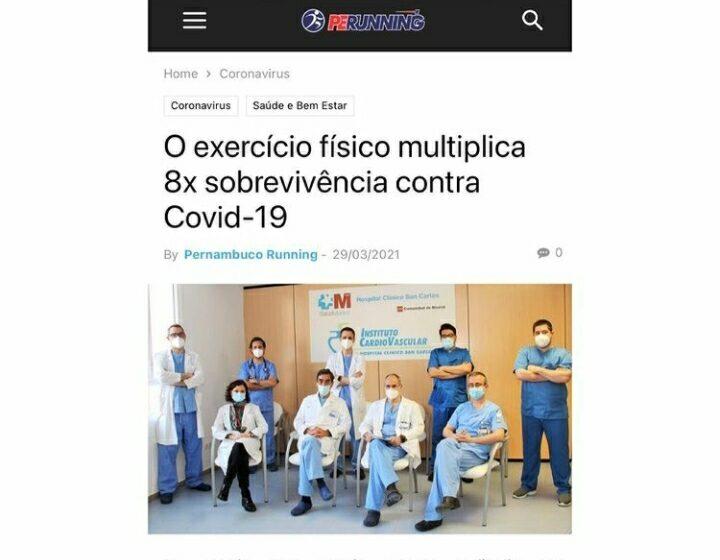 Pacientes com covid-19 que praticam exercícios físicos têm oito vezes mais chances de sobreviver?