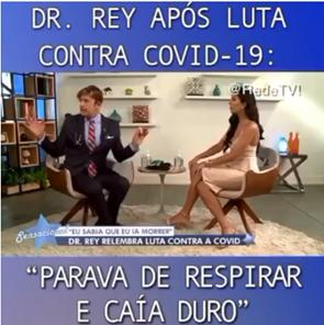 Dr. Rey afirma que foi curado da Covid-19 fazendo caminhadas