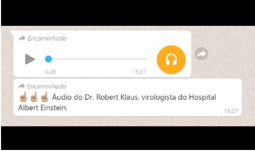 É FALSO: Áudio de suposto médico espalha desinformação sobre as vacinas